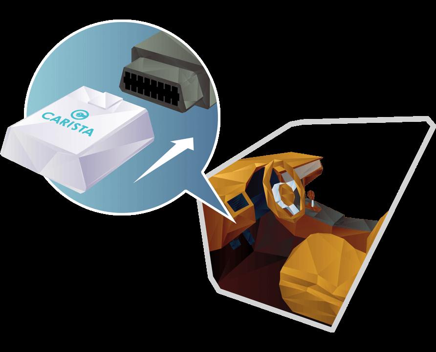 Адаптер OBD2 подключается под приборной панелью